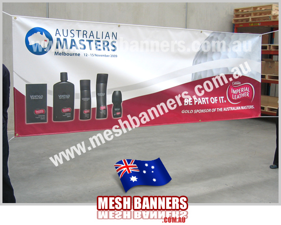 Various sponsor banners made for Australian Masters Golf Events