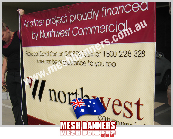 Girl Temporary Fence Banner Signs