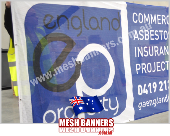 England Mesh Banners - England Property purchased these fence banner signs