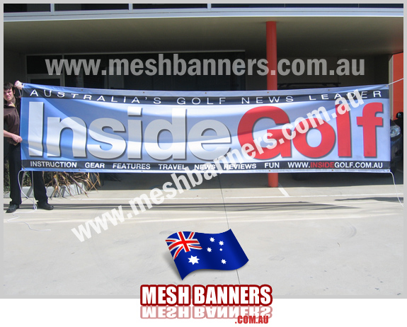 Inside Golf Event Signs this banner was made to take to different golf events as a fence sign