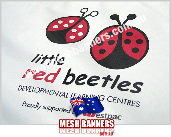 Little Red Beetles Banner Sign proudly supported by Westpac