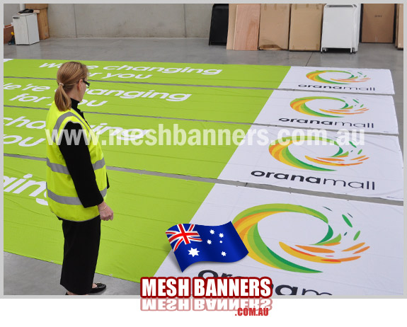 Bright colors on the mesh banner sign australia (Queensland Customer)