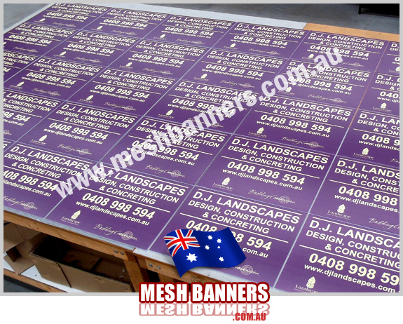 Drying, Site Identification Signs fence style, these flute board signs printed for outdoor temporary fence and builders screens