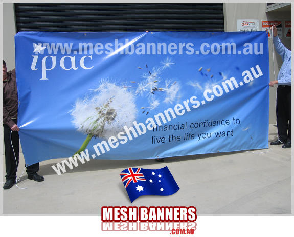Sporting event sponsors signage on a 'photo' style banner sign with wispy daisy image. This banner is very good value and cheap